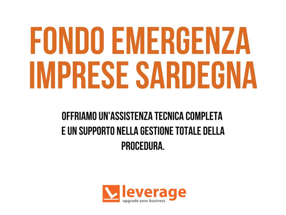 Offriamo assistenza per accedere al Fondo Emergenza Imprese Sardegna
